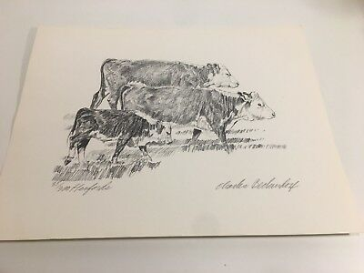 Charles Beckendorf. HERFORDS Limited Signed 11x14 11x14 Print