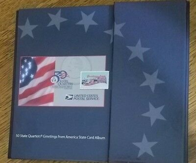 50 State Quarters Greetings from America Card Album - Coins & Stamps
