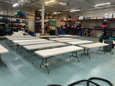 13 qty 8' Banquet tables - folding - Event Rental - Used