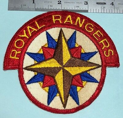 "Vintage ROYAL RANGERS  4"" Patch -NOS #156936"
