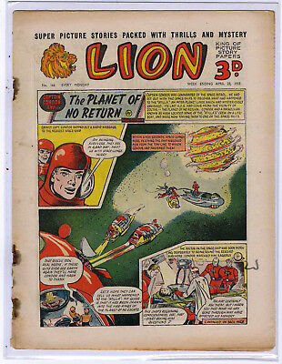 Lion 23rd April 1955 (#166, mid-high grade) Captain Condor, Amazing Advs of Mr X