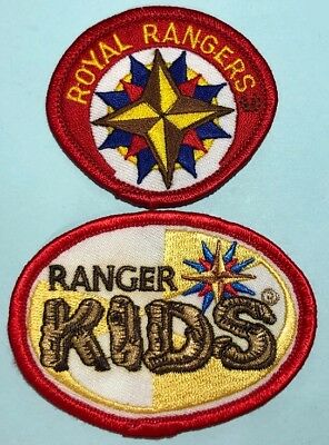 Vintage ROYAL RANGERS (2) Smaller Patches - Emblem & Ranger Kids