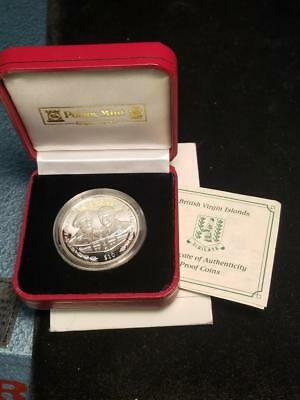 1945 to 2005 British Virgin Islands $10 925 Silver 60th Anniversary VE Day