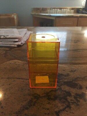 "Plastic Orange Storage Box With Top 2"" X 2"" X 4"""