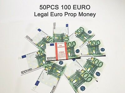 100 Euro, prop money, novelty, fake, play money, single sided, 50PCS Size:75%