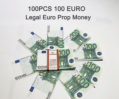 100 Euro, prop, novelty, fake, play money, single sided, 100PCS Size:75%