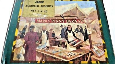 Tin -Marks' Penny Bazaar - Marks & Spencer -  Biscuits England