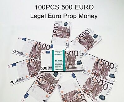 500 Euro, prop money, novelty, fake, play money, single sided, 100PCS Size:75%