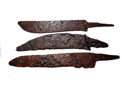 LOT OF 3pcs. ANCIENT ROMAN IRON KNIVES, WELL CLEANED AND PRESERVED!!!