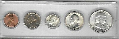1951 US Year set all five Philadelphia Mint coins uncirculated plastic holder