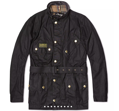 NEW barbour International a7 motorcycle jacket coat (size 34, fits 36-38)