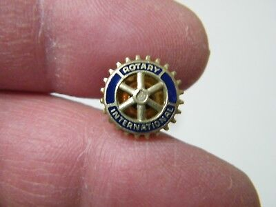 Rotary International Lapel Pin/Tie Tack Gold Filled