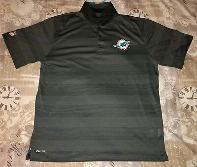MIAMI DOLPHINS NIKE DRI-FIT Polo Shirt Men XL NFL Onfield Apparel ... 1fbe47d63