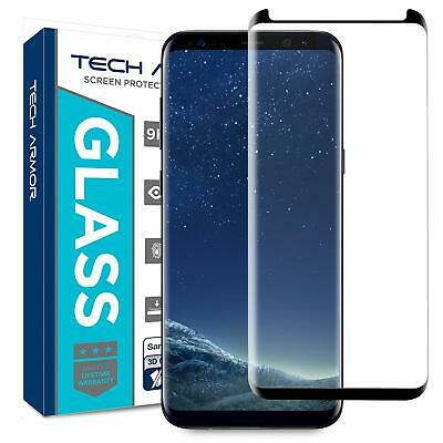 For Samsung Galaxy S8 100% Genuine Tempered Glass Screen Protector Black