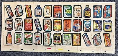 1974 Topps Vault Wacky Packages Original 10th Series Production Sheet With PUPSI