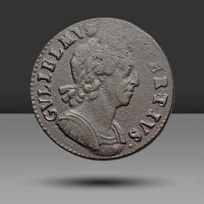 GREAT BRITAIN. William III Halfpenny, nice portrait