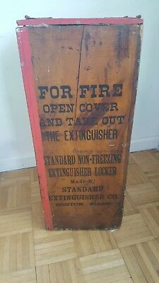 RARE Vintage STANDARD NON FREEZING LOCKER BOX Copper Brass Fire Extinguisher