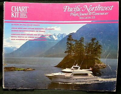 Pacific Northwest Nautical Navigation Chart Kit Puget Sound to Vancouver Maps