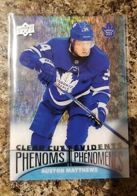 18-19 UD Tim Hortons Clear Cut Phenoms # Auston Matthews