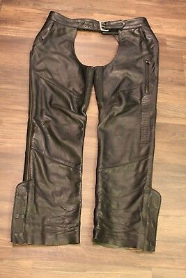 Harley-Davidson® Men's Deluxe Leather Chaps - 98100-16VM Size XL Lined