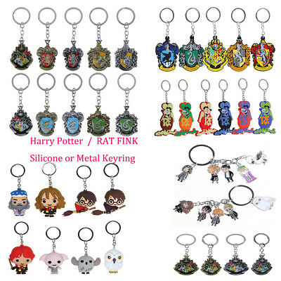 Harry Potter College Chibi Keyring Rat Fink Siliocne Character Keychain Gift New