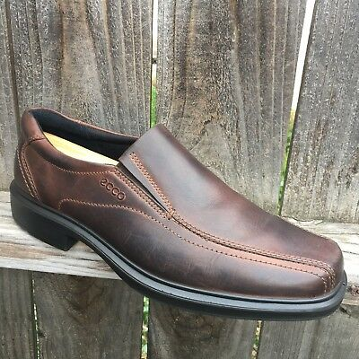 ad08125f3c2 ECCO Mens Shoes 10.5 Brown Leather Loafers Sz 44 Anti Fungal Stable Balance  Tech