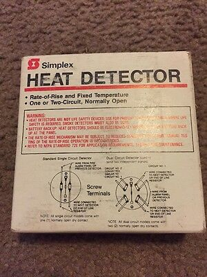 New Simplex 2098-9440 200 Deg Fixed Temperature Heat Detector Head