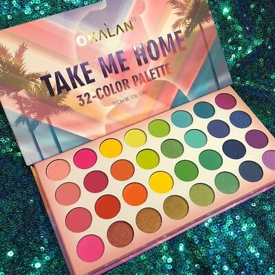 Oaklan 32 Take Me Home Eyeshadow Palette High Pigment Bright Neon Shades Sombras