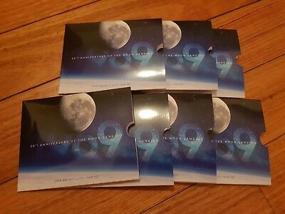 7x Mint Set SLEEVES - 2019 50th anniversary of Moon Landing Coins Australia