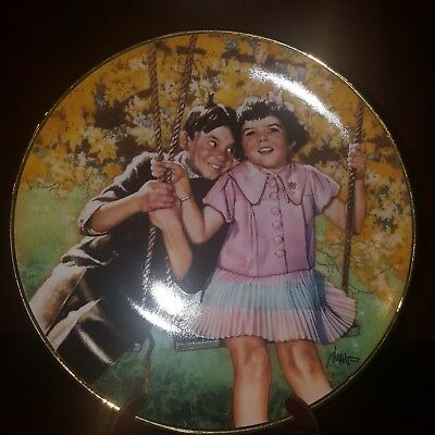 The Little Rascals Plate-Stuck On You-Franklin Mint