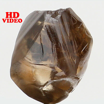 Natural Loose Diamond Brown Color Rough I1 Clarity 5.80 MM 0.82 Ct L6211