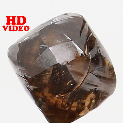Natural Loose Diamond Brown Color Rough I1 Clarity 4.80 MM 0.80 Ct L6206