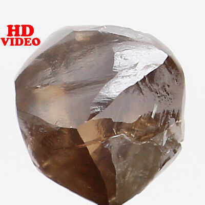 Natural Loose Diamond Brown Color Rough I1 Clarity 5.00 MM 0.79 Ct L6219