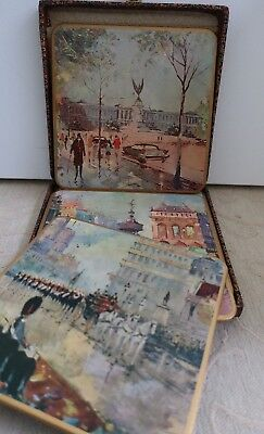 WIN EL ARE England retro vintage 1960s LONDON SCENES 6 boxed PLACEMATS