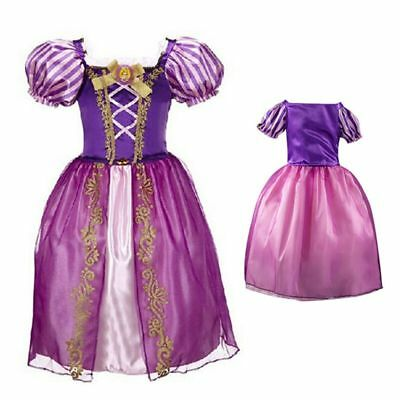 1815fbe67 Kids Girl Princess Dress Tangled Rapunzel Fancy Costume Fairy Tale Story  Purple