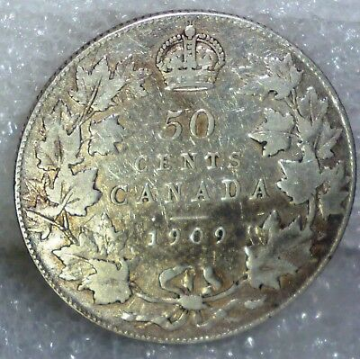1909 CANADA FIFTY CENTS (50 cents)