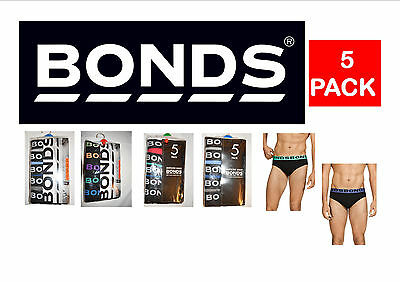 New Bonds 5 Pack Hipster Briefs Asst'd Colours Size S Free Postage