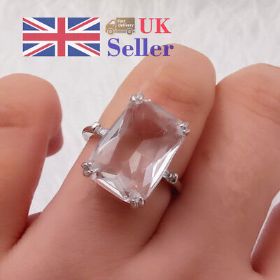 Women Rings Luxury 925 Silver Plated Zircon Fashion Engagement Jewelry Gift