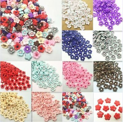 10-50pcs Resin Rose Flower flatback Appliques For phone/wedding/crafts