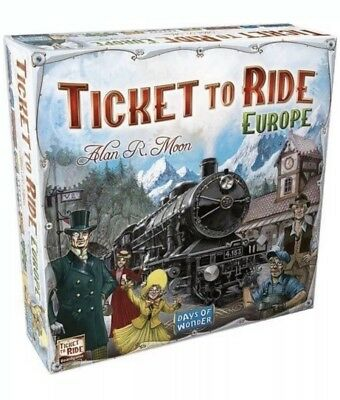 Ticket to Ride Europe Board Game Brand New Sealed FREE Fast Shipping