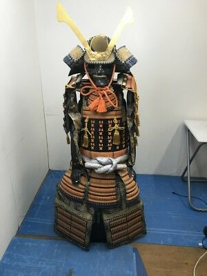 The Kabuto and Armor Full Set Japanese Traditional  Used  SAMURAI, Noble Family
