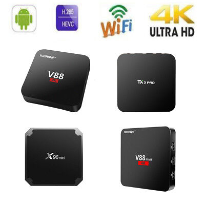 X96mini TX3 PRO V88 8G 16GB TV Box HD 4K Android 7.1 H.265 Médias Mini PC X6P2