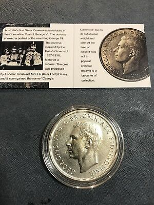 Carded 1937 crown in capsule nice coin