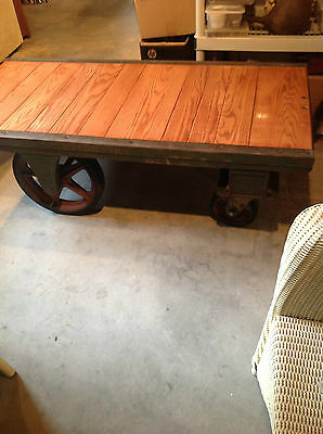 """Antique """" FAIRBANKS """" Railroad Industrial Cart + Completely Restored"""