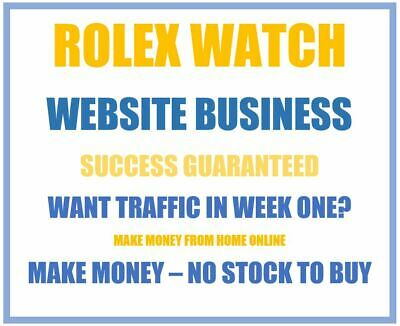 Rolex Watch Website Business|Dropshipping|Guaranteed Profits|For The Usa Market