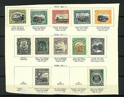 Mozambique Company Stamps from  Old Antique Album 1918-1923  MH*  11 stamps