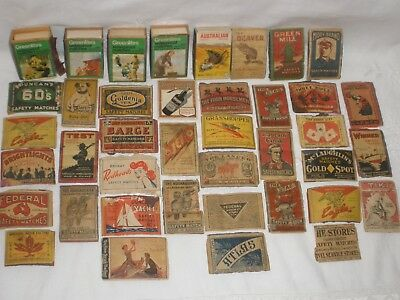 Vintage COLLECTION OF MATCH BOX COVERS FEDERAL REDHEADS ETC..
