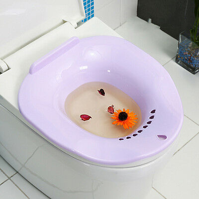 1* Women Sitz Bath Plastic Portable Cleansing Basin Home Medical Supplies Clinic