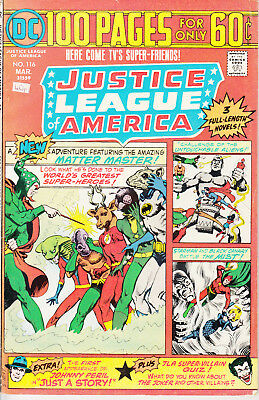 DC Justice League of America, #116, 1975, 100 pages, Cary Bates, Dick Dillin