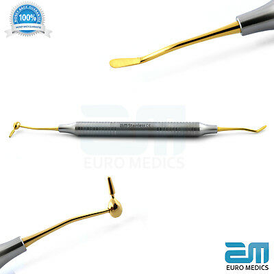 Dental Composite Instrument  Gold Titanium Tip CIG 6 Restorative Dentistry Tools